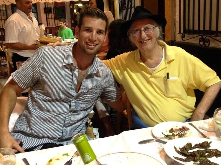 Josh with Juan Tamariz in Cadiz